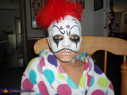 Drew her face on!, Little Insane Clown Costume
