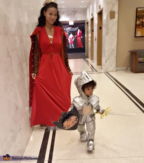 Ready to defend his mama..., Little Knight in Shining Armor Costume