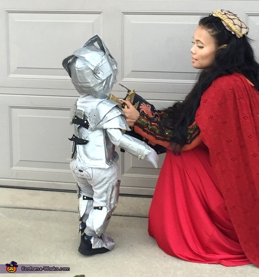 Little Knight in Shining Armor Homemade Costume