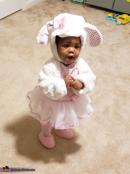Praying for Lots of Candy, Little Lamb Costume