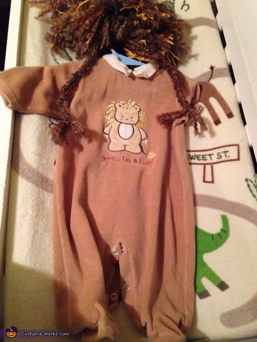 Front of costume, Little Lion Baby Costume