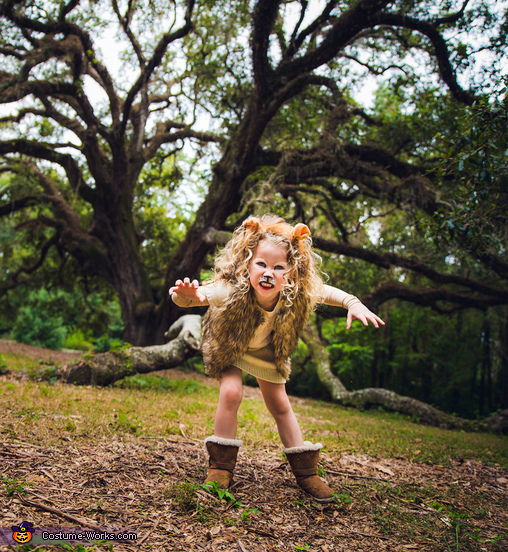 Little Lion Girl Homemade Costume