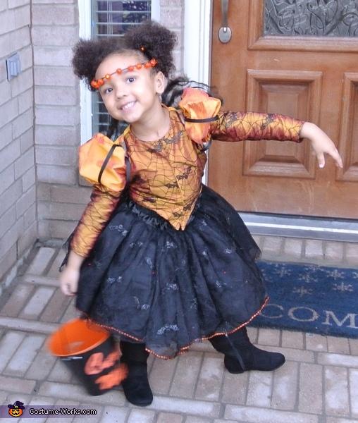Spider Princess front, Little Miss Muffet Costume