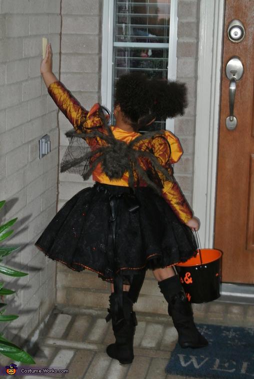 Spider Princess back, Little Miss Muffet Costume