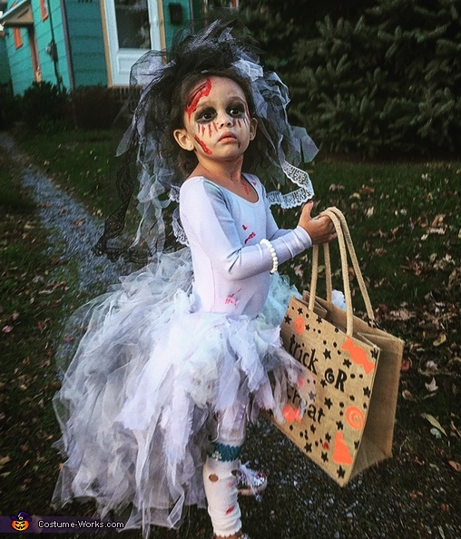 Trick or Treat, Little Miss Zombie Bride Costume
