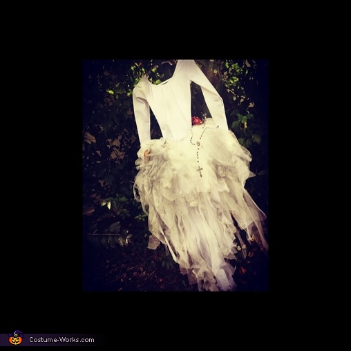 Zombie Bride's Gown, Little Miss Zombie Bride Costume