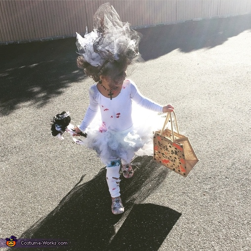 Here comes the Bride, Little Miss Zombie Bride Costume