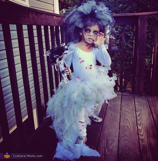 Little Miss Zombie Bride Homemade Costume