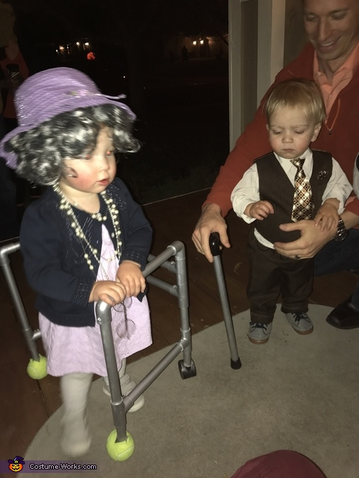 The walker makes the costume, Little Old Couple Costume