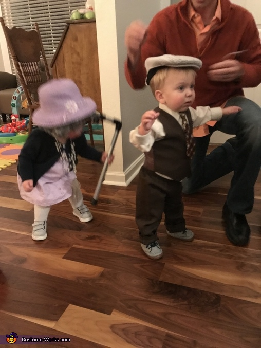 Everett, you might need your cane!, Little Old Couple Costume