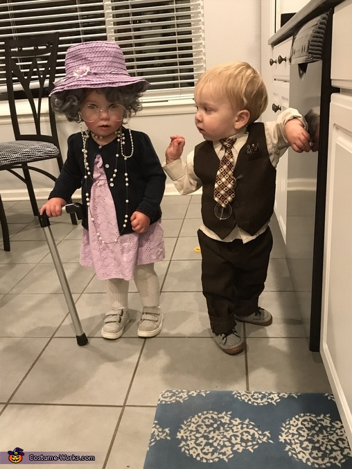 Just a little cute old couple, Little Old Couple Costume