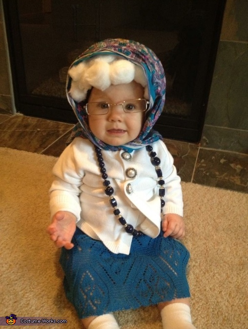 What a trooper! , Little Old Granny Baby Costume