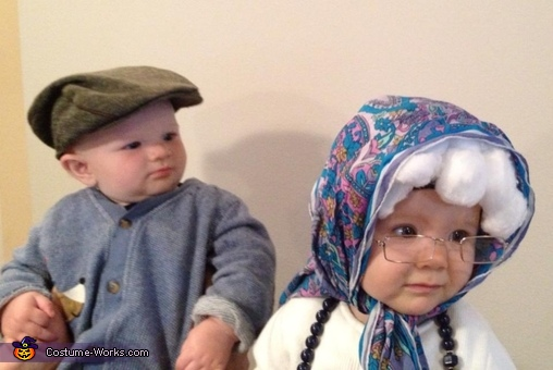 Her little old man, friend! , Little Old Granny Baby Costume