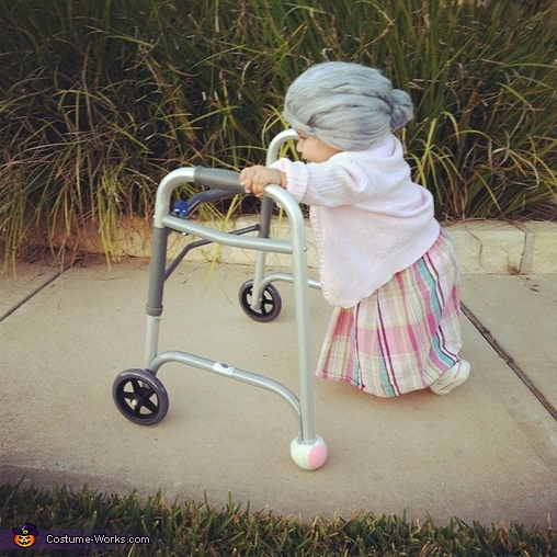 Little Old Lady - Homemade costumes for babies