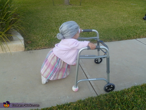 I really hope my Depends are working., Little Old Lady Costume