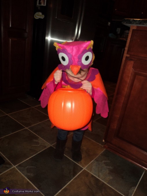 Little Owl getting candy, Little Owl Costume