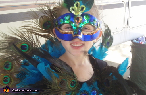 UPCLOSE FACE MASK, Little Peacock Costume