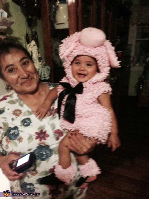 Her and grandma , Little Piggy Baby Costume