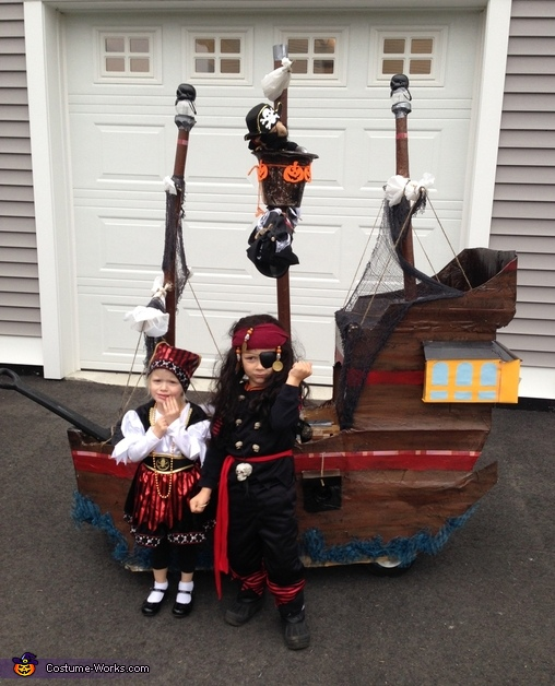 Little Pirates and their Ship Costume