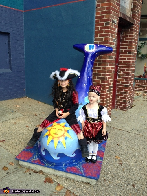 Pirates Trick or treating, Little Pirates and their Ship Costume