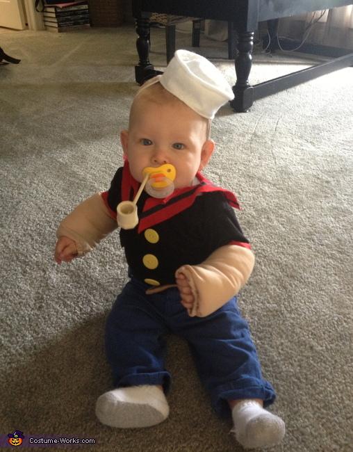 Popeye Baby Costume. Popeye the Sailor Man  sc 1 st  Costume Works & DIY Popeye Baby Costume