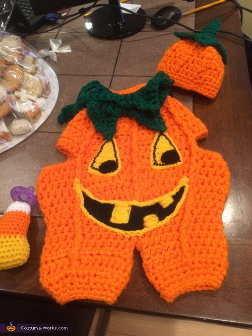 Pumpkin completed, Little Pumpkin Baby Costume