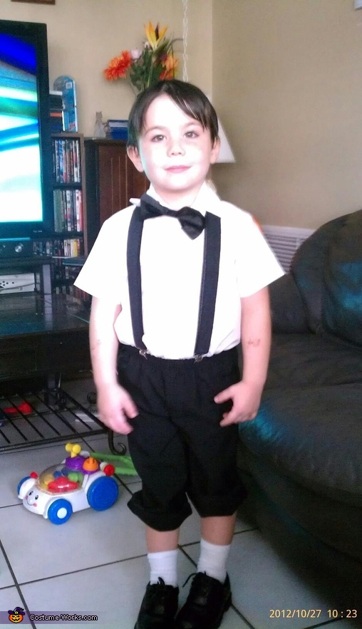 my son Robbie as Alfalfa, Little Rascals Costume
