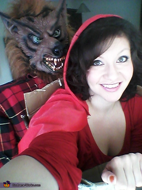 selfie with my wolf, Little Red and the Big Bad Wolf Costume