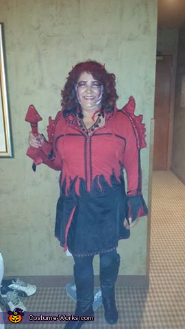 single front little red, Little Red Misschievous Costume