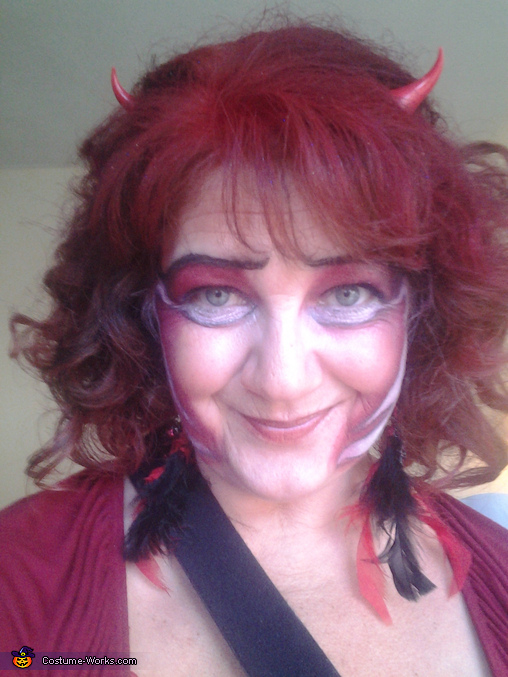 flame make-up i made up, Little Red Misschievous Costume