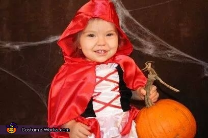 Little Red Riding Hood Baby Homemade Costume