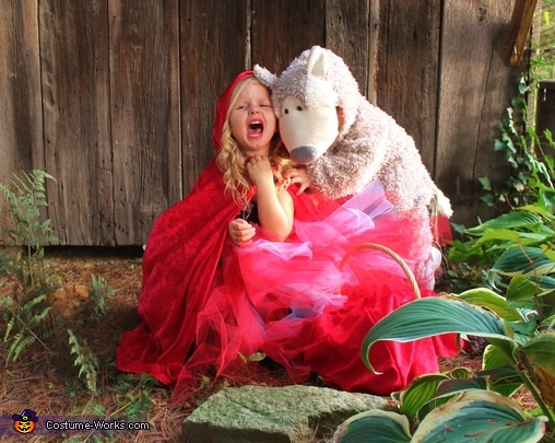 And she was devoured by the wolf, Little Red Riding Hood and the Bad Wolf Costume