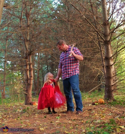 Little Red Riding Hood and the Bad Wolf Homemade Costume