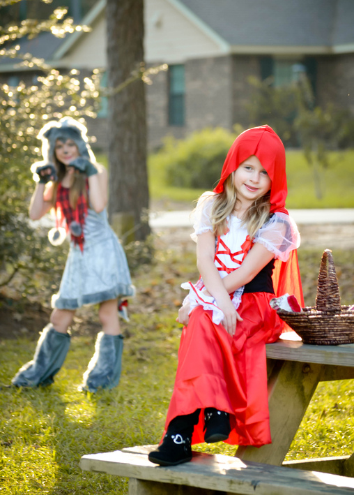 Careful, Red... the wolf is not far..., Little Red Riding Hood and the Big Bad Wolf Costume