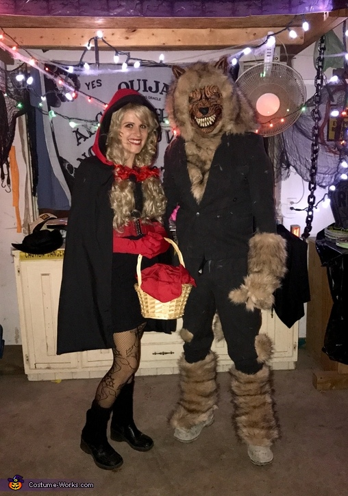 Little Red Riding Hood and the Big Bad Wolf Couple Costume