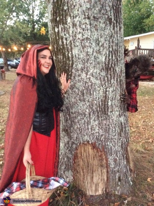 Adult Couple Little Red Riding Hood and the Big Bad Wolf Costume