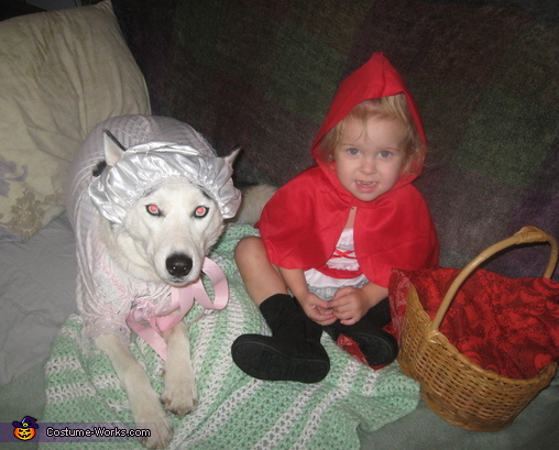 Chloe Nicole and Kira the dog as Little Red Riding Hood and The Big Bad Wolf pic#2, Little Red Riding Hood and The Big Bad Wolf Costume