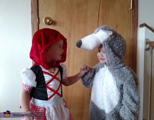 Little Red Riding Hood & The Big Bad Wolf Twins Costume