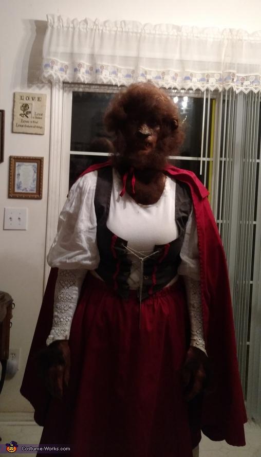 Little Red Riding Hood that got bitten by a Warewolf Costume