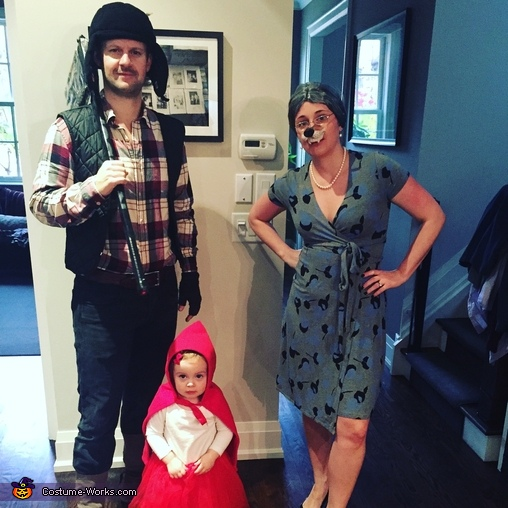 Little Red Riding Hood, the Wolf and the Axe Cutter Costume