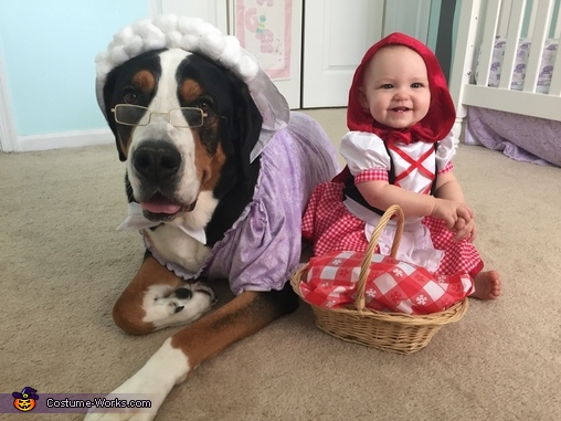 Little Red Riding Hood with her Big Bad Wolf Costume