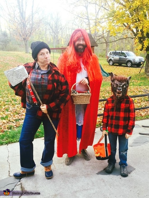 Little Red Riding Hood Wolf And Lumberjack Family Costume Mind