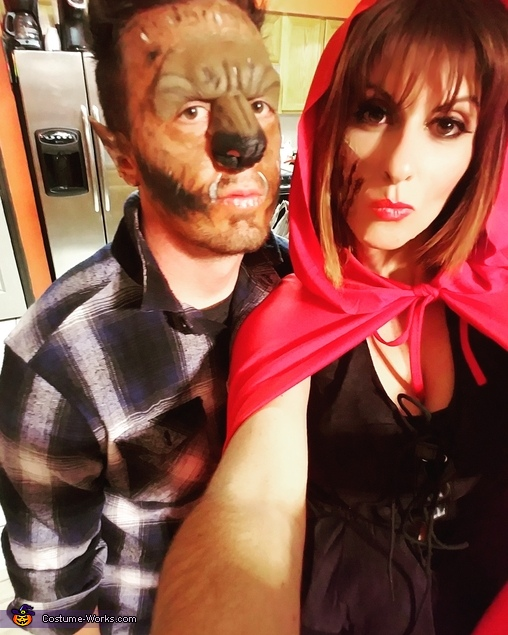 We are actually super friendly, Little Red Riding Hunter and her Wolfman Costume