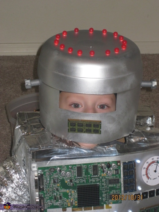 Close Up of the Helmet, Little Robot Costume