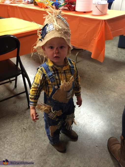 Getting ready to go trick or treating!, Little Scarecrow Costume