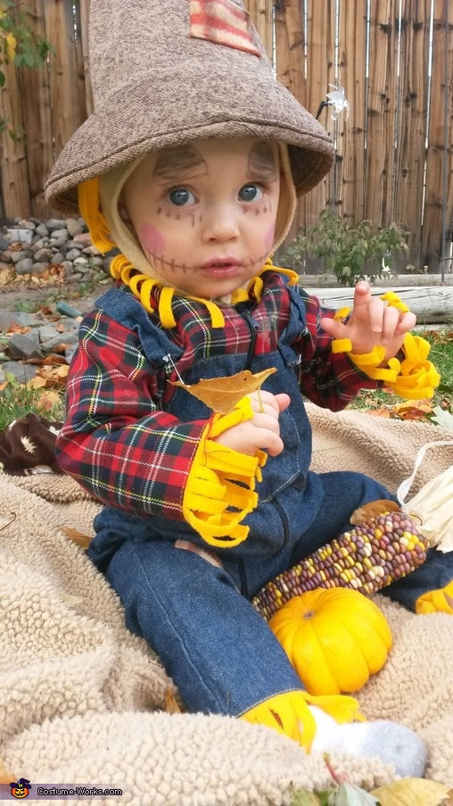 Beautiful Blue eyed scarecrow , Little Scarecrow Baby Costume