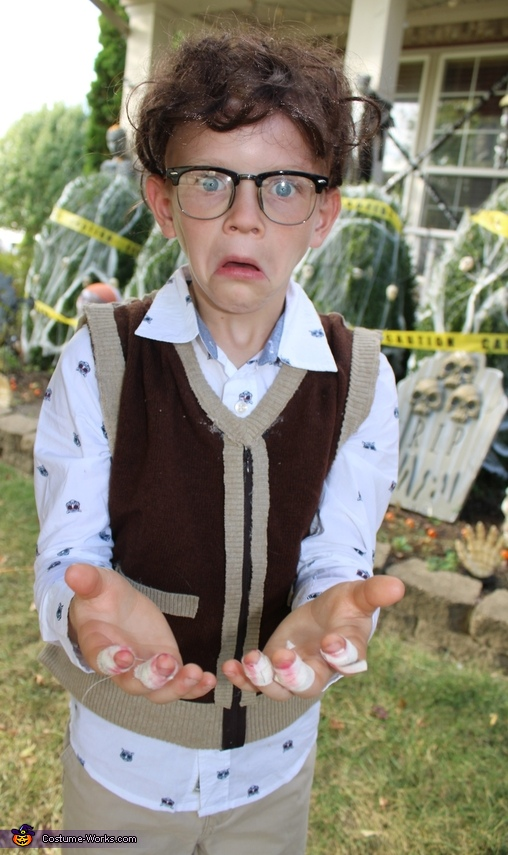 My son got really into the Seymour faces, haha, Little Shop of Horrors Costume