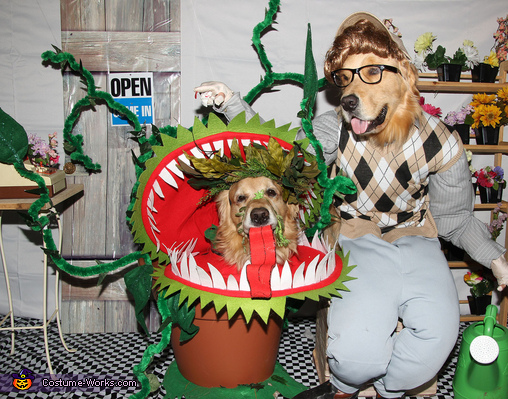 "Phoenix and Gryphon in ""Little Shop of Horrors"" Costume"