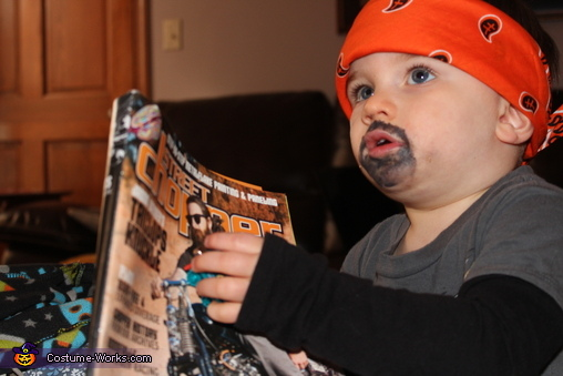 'Just reading my Chopper mag', Little Son of Anarchy Costume