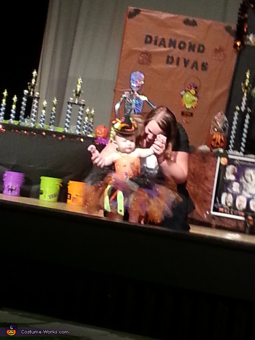 On Stage showing off for the Judges! , Little Witch Baby Costume